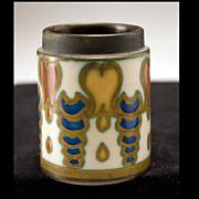 """1920's """"Gouda"""" Holland Art Polychrome Nouveaux Pottery"""