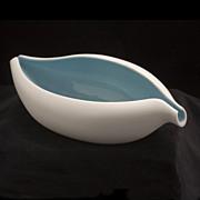"""""""BAHARI"""" Free Form Porcelain Bowl, Modernist Design"""