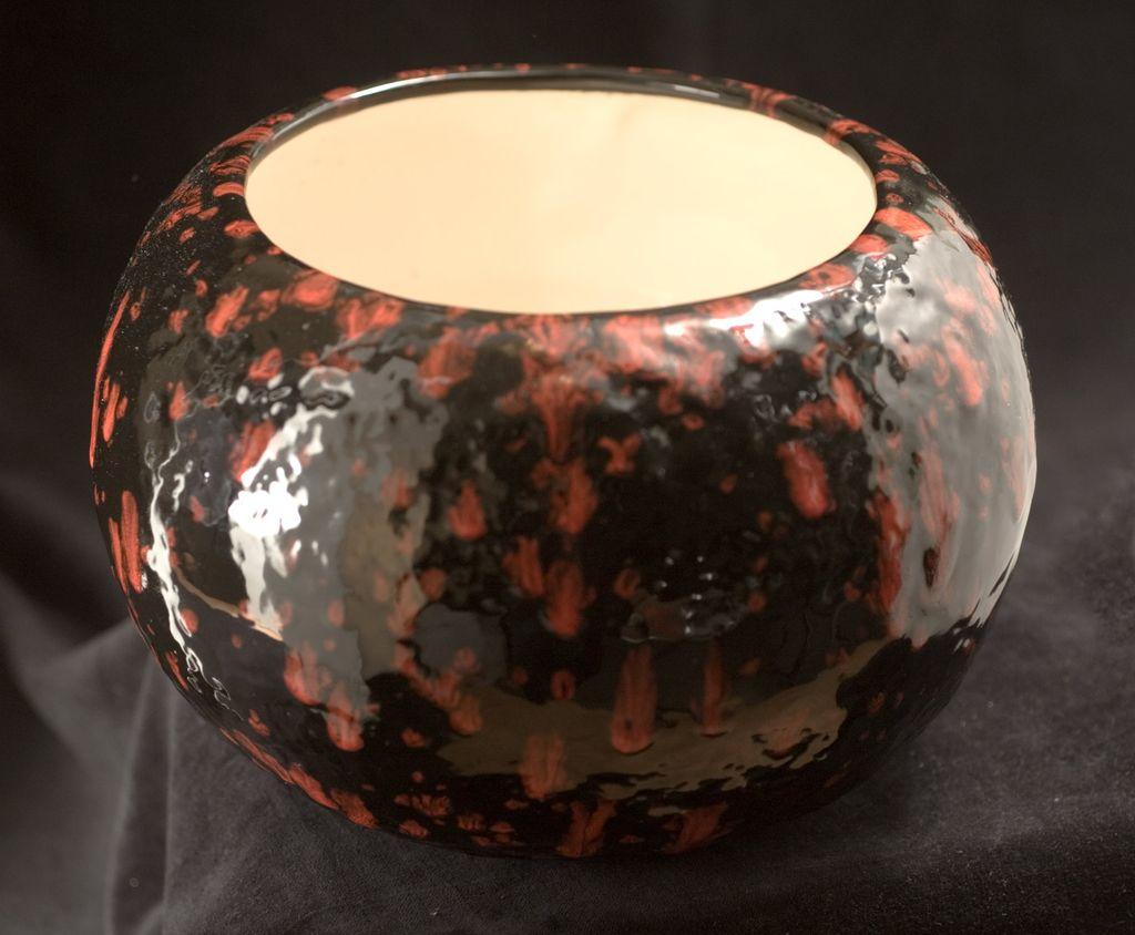 Massive Vintage Riddell of California Controlled Drip Ceramic Pot