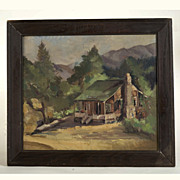 Nellie Church Beale  (1880 - 1937)  Plein Air Oil Painting