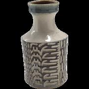 Vintage Mark Fleming Mid Century Incised Ceramic Vase