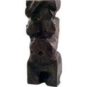20th Century Abstract Anthropomorphic Carved Redwood Wood Sculpture