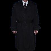 Vintage Christian Dior Men's Trench Coat - Le Connaisseur Sz. 44R