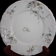 Vintage Theo Haviland Limoges Blue Floral Transfer Salad Plate