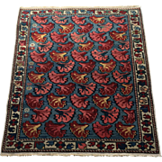 Lovely Unusual Shirvan Caucasian Oriental Rug, ca. 1890, hand knotted in pure wool using vegetable dyes, 2' x 3' Free appraisal-free shipping