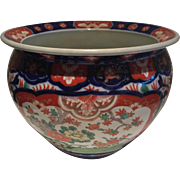 """Japanese IMARI Porcelain JARDINIERE   Large Table Top  7 3/4"""" x 9 3/4"""" x 5"""" Beautifully Painted-Hard to find size Free Shipping"""