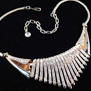 Corocraft Coro Regency Baguette Rhinestone Necklace