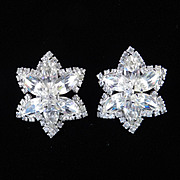 Weiss Kramer Rhinestone Star Earrings