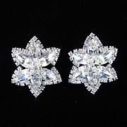 Weiss Kramer Rhinestone Star Earrings