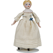Tiny Blonde Parian Doll - 3.75 Inch