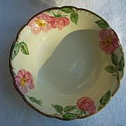 "8"" Franciscan Earthenware Desert Rose Vegetable Bowl USA"