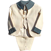 Gorgeous Vintage 3 Piece Hand Tailored Medium Weight Fabric Boys Short Suit and Vest