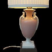 Elegant 1930's Vintage Porcelain Urn Shaped Table Lamp