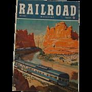 1948 Vintage RAILROAD Magazine February Volume 45 No. 1