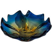 Brilliant Blue Art Glass Bowl