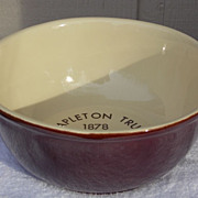 """McCoy Advertising Lancaster Colony Vintage 1978 Brown 8"""" Bowl"""