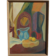 Original Large Acrylic on Canvas Still Life Painting