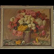 """11"""" X 9"""" JK Sharp Flower Still Life Lithograph"""