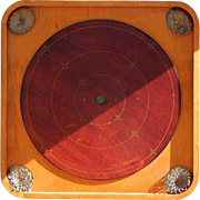 "1901-1914 Beautiful Decorative Carrom Combination ""F"" Crokinole Game Board"