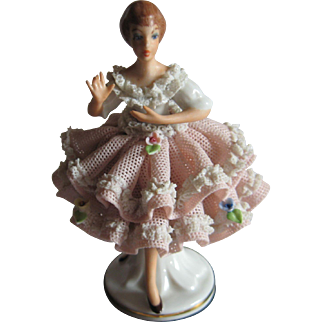 Dresden Lace Style Porcelain Figurine
