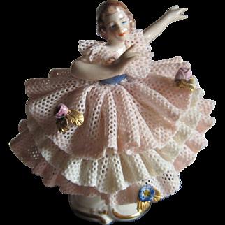 Dresden Lace Style Ballerina Figurine