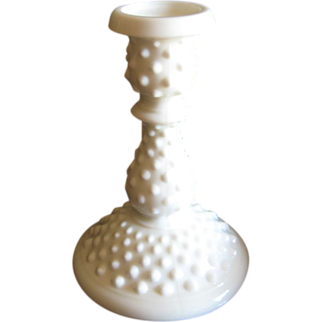 Fenton Hobnail Milk Glass 6 in. Candle Holder