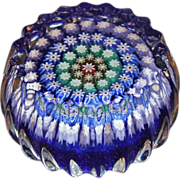Perthshire Crimped Edge Concentric Millefiori Paperweight