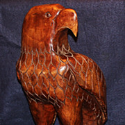 "Beautifully Carved 18"" Wooden Eagle"