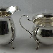 American Sterling Silver Cream and Sugar