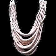VIntage Gerda Lynggaard/Monies Pink Multi Strand Necklace with Horn CLosure
