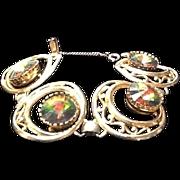 "Vintage Schiaparelli ""Watermelon"" Tourmaline Bracelet"