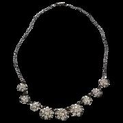 Dazzling Vintage Rhinestone Flower Necklace