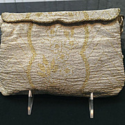 Vintage French Steel Beaded Evening Purse