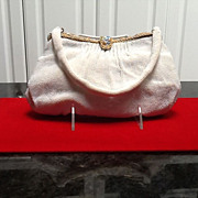 Vintage French Beaded Evening Purse with Medallions