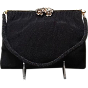 VIntage French Beaded Evening Bag with Ornate Frame