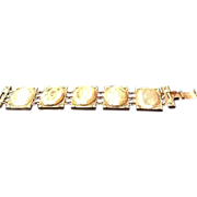 "Vintage Carnegie ""Locket""  Bracelet"