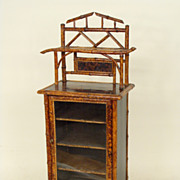 Bamboo and chinoiserie side cabinet