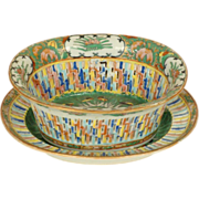 Chinese export reticulated bowl and under plate