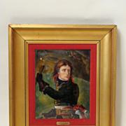Limoges enamel plaque of Napoleon