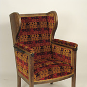 Neo classical adjustable wing chair