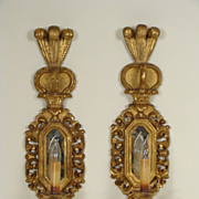 Pair of Italian baroque style wall sconces