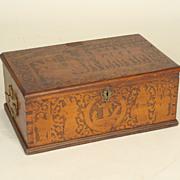 Continental  antique document box