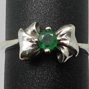Vintage 14kt Emerald Ring; FREE SIZING.