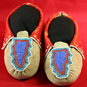 Native American Delaware Beaded Moccasins