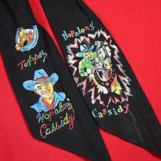 SALE Hopalong Cassidy Neck Scarf or Tie