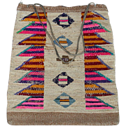 NATIVE AMERICAN INDIAN PLATEAU CORN HUSK BAG