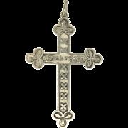 French Victorian Silver Saint Wulfram Cross