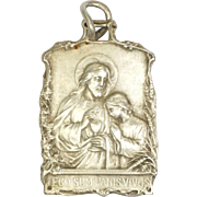 French Circa 1900  Silver 'Bread of Life' Communion Medal