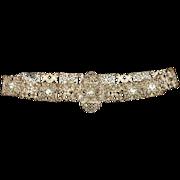 Renaissance Revival Filigree Hand Cut Paste Stones Theatre Belt