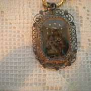 Antique Micro Miniature of Jesus and Mary